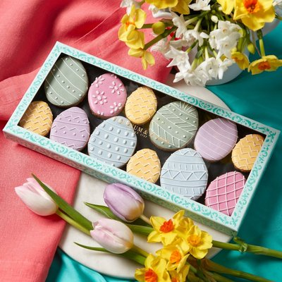 Fortnum & Mason Decorated Easter Egg Iced Biscuits, 182G