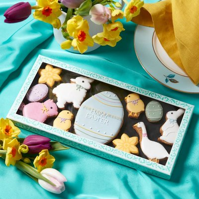 Fortnum & Mason Easter Animals Iced Biscuits, 166G