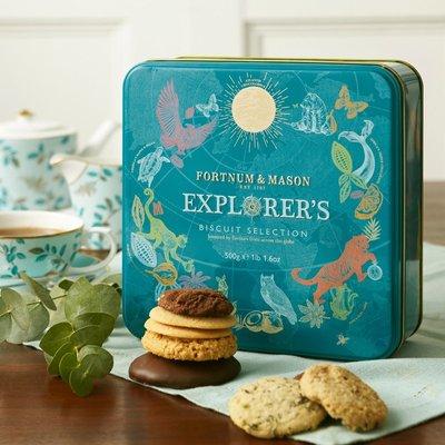 Fortnum & Mason Explorer's Biscuit Selection Tin, 500g