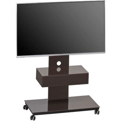 Sonax LCD TV Stand In Lava Glass With Black Frame
