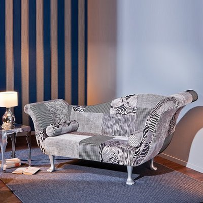 Syracuse 2 Seater Sofa In Upholstered Fabric With Wooden Legs