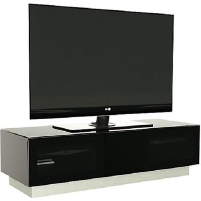 Castle LCD TV Stand Medium In Black With Glass Door