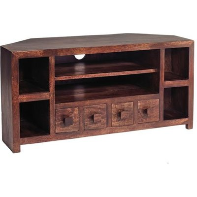 Mango Wood Corner TV Unit