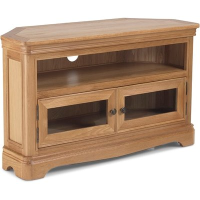 Ametis Wooden Corner TV Stand In Oak With 2 Doors