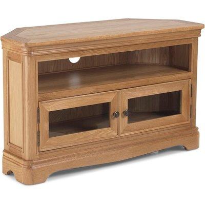 Ametis Wooden Corner TV Stand In Oak With 2 Doors