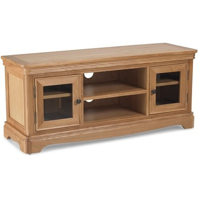 Ametis Wooden Plasma TV Stand Rectangular In Oak With 2 Doors