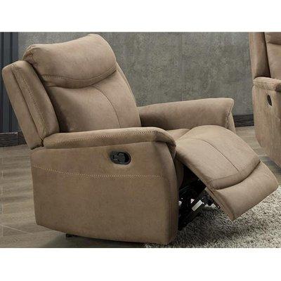 Arizones Fabric Manual Recliner Armchair In Caramel