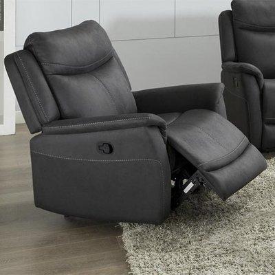 Arizones Fabric Manual Recliner Armchair In Slate