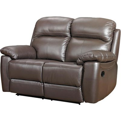 Aston Leather 2 Seater Recliner Sofa In Brown
