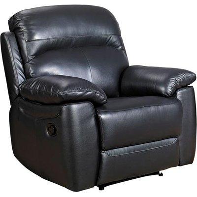 Astona Leather Recliner Sofa Chair In Black