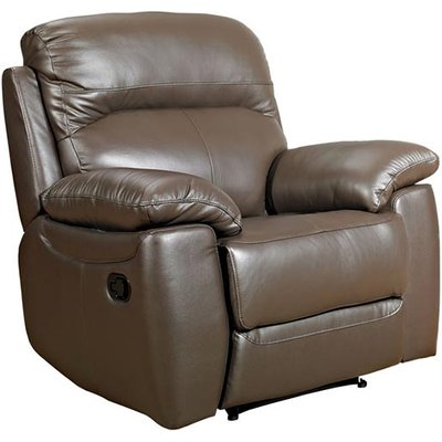 Astona Leather Recliner Sofa Chair In Brown