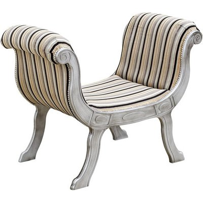 Cleopatra Occasional Lounge Chaise Chair With Wooden Legs