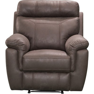 Colyton Fabric Recliner Sofa Chair In Brown Finish