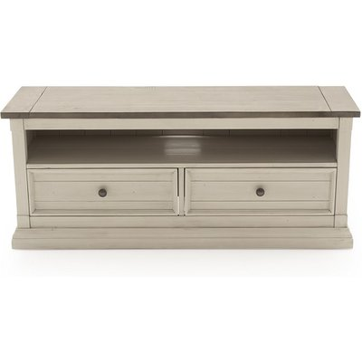 Emery TV Stand Rectangular In Antique White With 2 Drawers