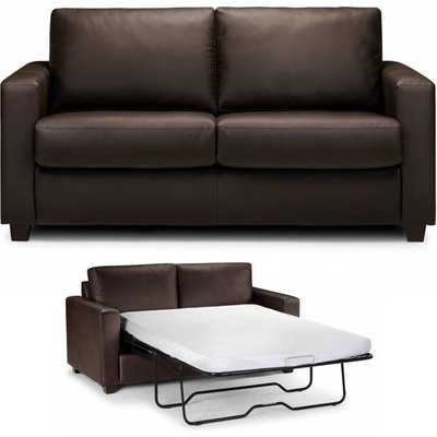 Saffy Brown Faux Leather Fold Away Sofabed