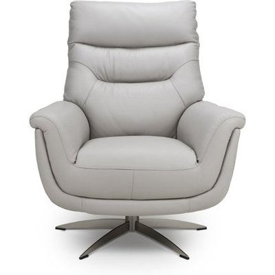 Linea Faux Leahter Swivel Armchair In Putty