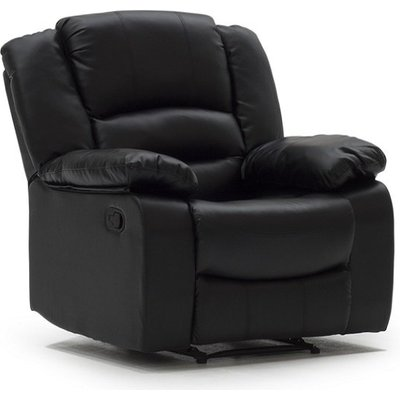Malou Recliner Sofa Chair In Black Faux Leather