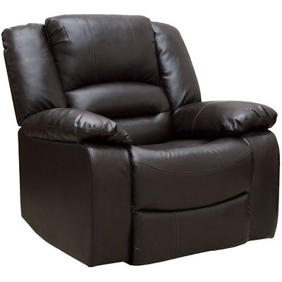 Malou Recliner Sofa Chair In Brown Faux Leather
