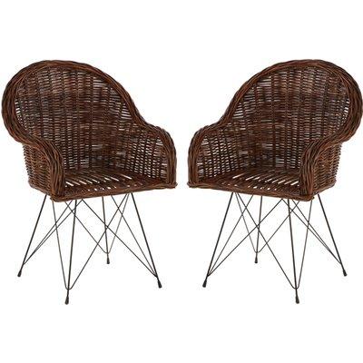 Hunor Natural Croco Rattan Chair In Pair