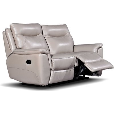 Merryn Recliner 2 Seater Sofa In Taupe Faux Leather