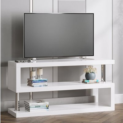 Miami LCD TV Stand In White High Gloss