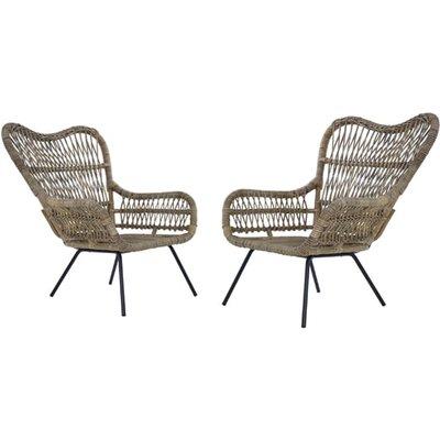Kalausi Kubu Rattan Chair In Pair