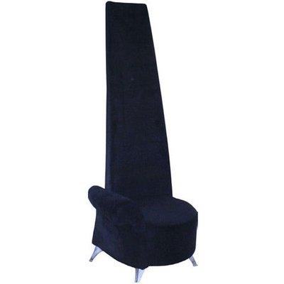 Potenza Novelty Chair In Black Velvet With Chromed Steel Feet