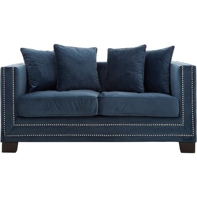 Pipirima 2 Seater Midnight Velvet Sofa In Blue