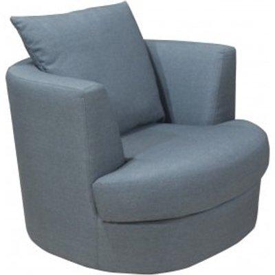 Sokoto Modern Snug Swivel Chair In Linen Grey