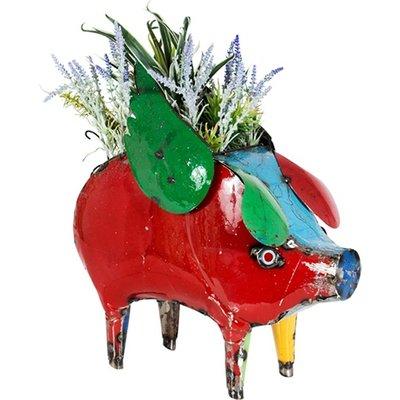 Barnyard Flying Pig Planter