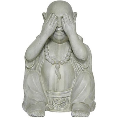 Buddha See No Evil Garden Ornament