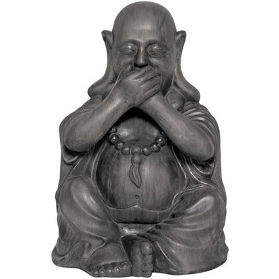 Buddha Speak No Evil Garden Ornament