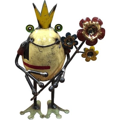 Frog King With Flowers