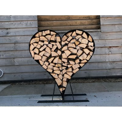 Love Heart Wood Rack - Ex Display