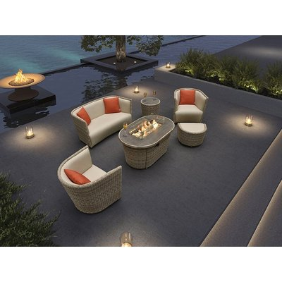 St. Tropez 6 Piece Suite With Firepit | PRE ORDER