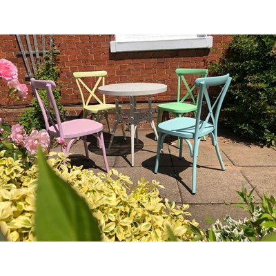 Retro Cross Back 4 Chair Set