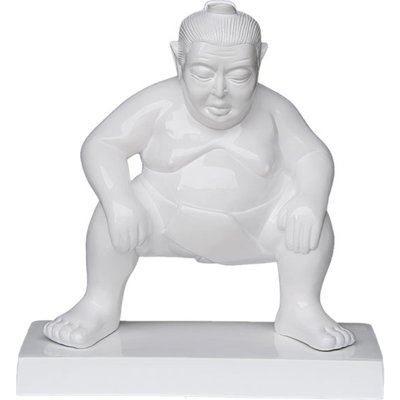 Sumo Garden Ornament - White