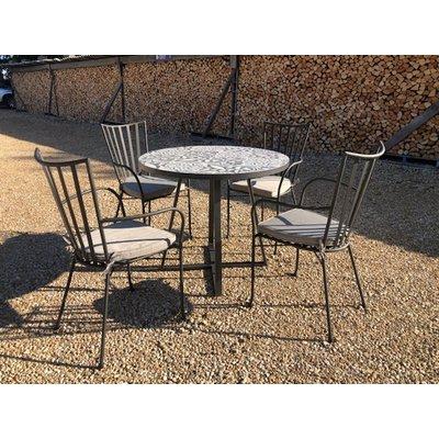 Terrazzo 90cm Table Set