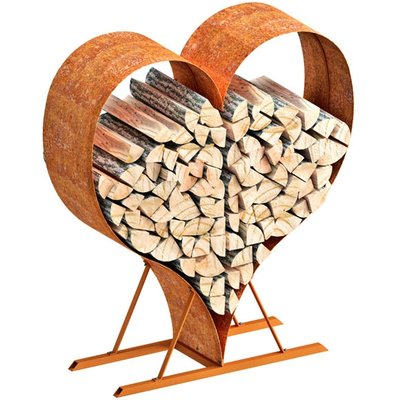 Rustic Love Heart Wood Rack