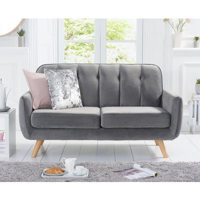 Coby Grey Velvet 2 Seater Sofa