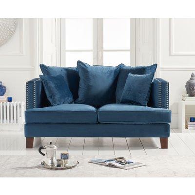 Cava Blue Velvet 2 Seater Sofa