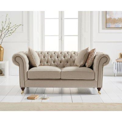 Cameo Cream Linen 2 Seater Sofa