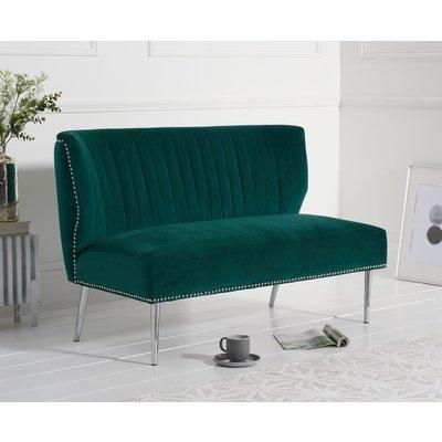 Lina Green Velvet Love Seat Sofa