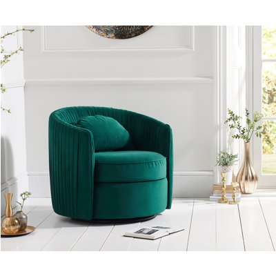 Sadie Green Velvet Swivel Chair