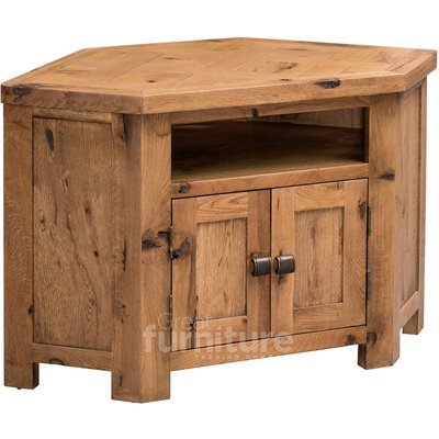 Kingsley Solid Oak Corner TV Cabinet