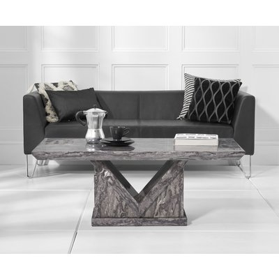 Mocha Grey Marble Coffee Table