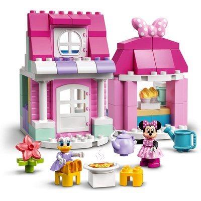 LEGO 10942 DUPLO Disney Minnie?s House and Caf' Dollhouse with Minnie Mouse and Daisy Duck