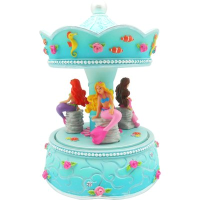 Luvley Summer Mermaid Musical Carousel