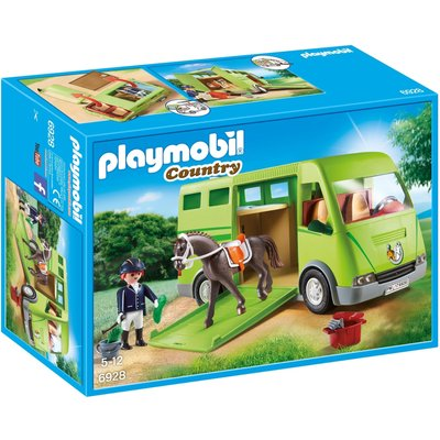 Playmobil Country Horse Box With Opening Side Door 6928