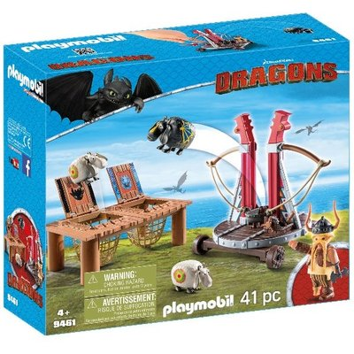 Playmobil How to Train the Dragon Gobber The Blech with Sheep Sling